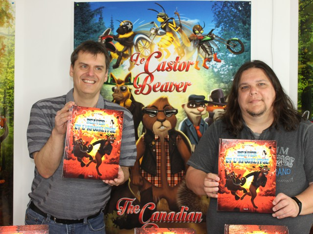 Claude Jalbert and Steeve Cadorette at the release of the Adventures of Beaver album 3 ... The Apocalypse!